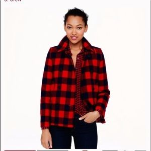 J.Crew wool buffalo plaid jacket 6